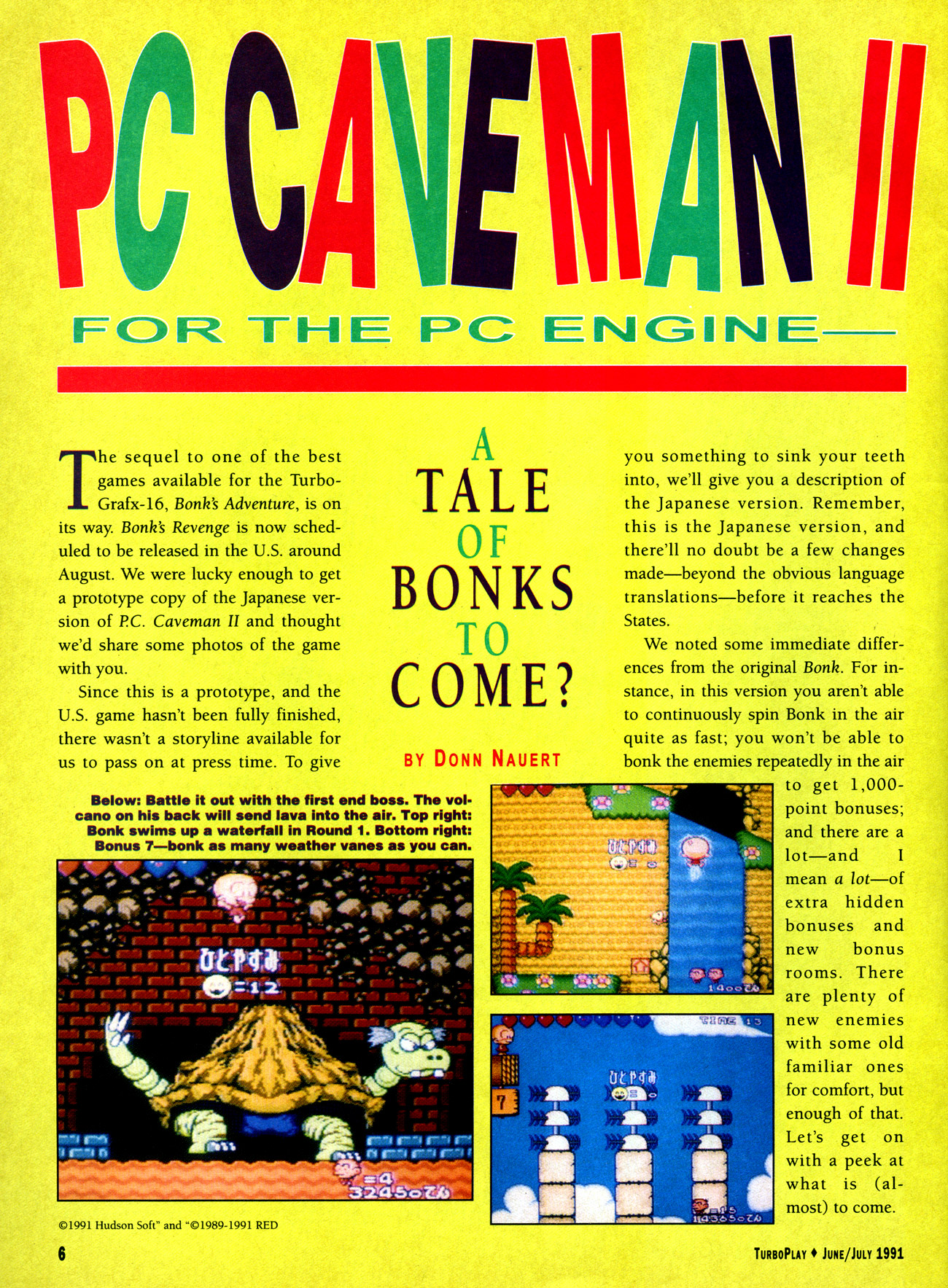 PC CAVEMAN II FOR PC ENGINE - A Tale of Bonks to Come