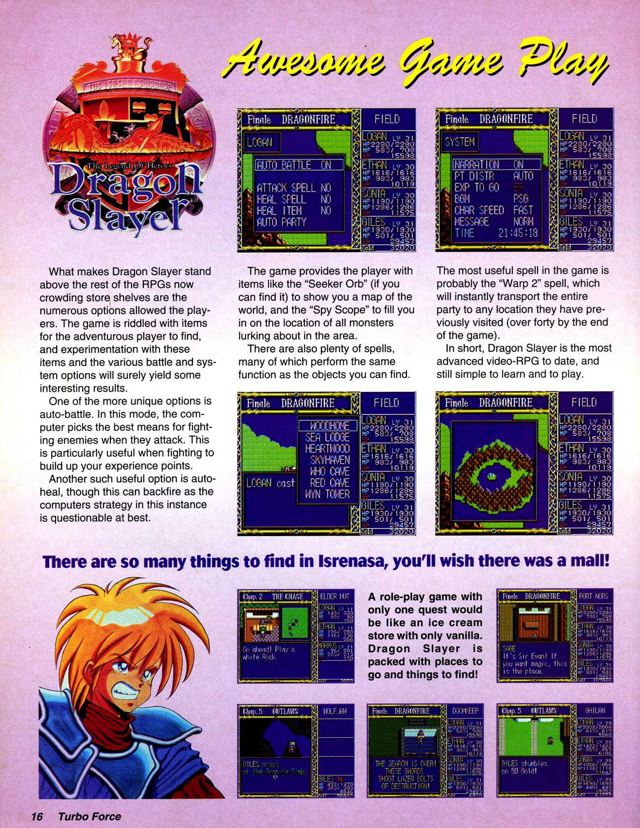 TurboForce Magazine #03 (January 1993) :: TurboPlay Magazine Archives