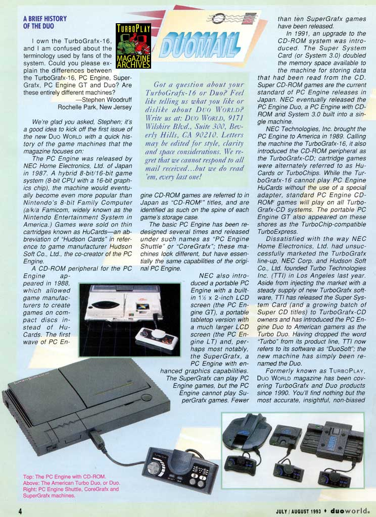 TurboGrafx-16 & PC-Engine Magazine Scans + Instruction